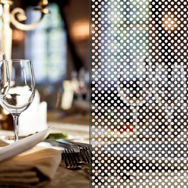 Folia dekoracyjna o wzorze białych punktów  – średnica 3mm