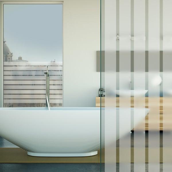 Folia dekoracyjna o wzorze białych, matowych pasów  –  szerokość 44mm